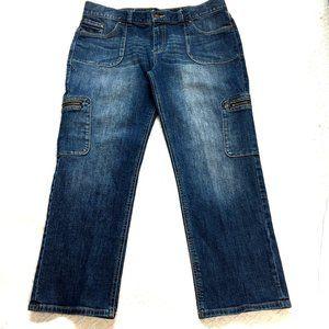 Simply Vera Vera Wang Moto Zip Straight Jeans